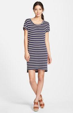 Caslon® Stripe French Terry Dress (Regular & Petite)   Nordstrom