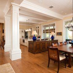 kitchen islands with pillars | kitchens with columns design ideas