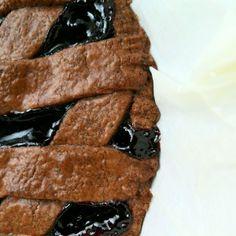 Frolla sablè al cacao con composta di mirtilli