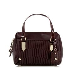 Star by Julien Macdonald Designer wine quilted mini bowler bag- at Debenhams.com