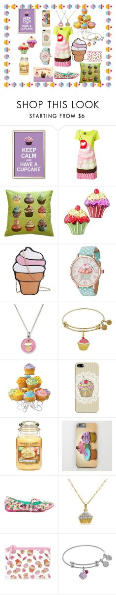 """""""Keep calm and have a cupcake"""" by ipekzsuel on Polyvore featuring Pillow Decor, Betsey Johnson, Chrysalis, Casetify, Yankee Candle, Iron Fist, Amanda Rose Collection and Forever 21"""