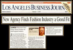 LA Business Journal features HHPR! Sherman Oaks, Business Journal, News Agency, Industrial Style, Advertising, Product Launch, House, Home, Haus