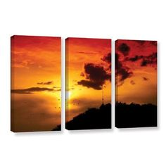 ArtWall 'Sky' by Dragos Dumitrascu 3 Piece Photographic Print on Wrapped Canvas Set