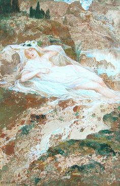 "Elisabeth Sonrel (French, 1874 - 1953), ""Nymph"""