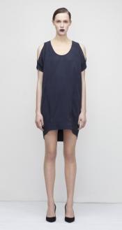 Cupro Cold Shoulder Dress