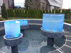 Los cilindors de Vitroflex Aquarium, utilizados en la fuentes de Temena poseen una gran ligereza. Canning, Fonts, Pools, Home Canning, Conservation