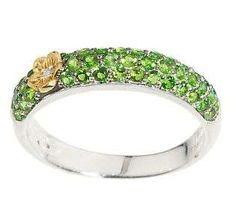 Dweck Diamonds | Dweck Diamonds 14K Clad Caroline Chrome Diopside Ring QVC