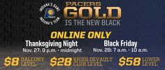 Pacers Black Friday Offer