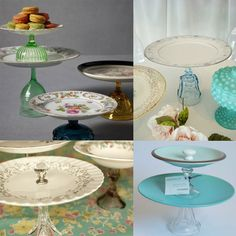 How to make a vintage cake stand, I did this for my wedding and gave them away. Everyone love them. Great gifts