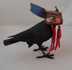 mystic raven wood sculpture artist, david caricato featured at Spirits in the Wind Gallery Golden, CO