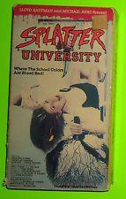 Splatter University (1984) 1985 VESTRON TROMA UNEDITED EDITION rare oop slasher