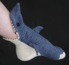 Shark Socks - These are some cool socks, put them on and it looks like you legs are being eaten by mini sharks!