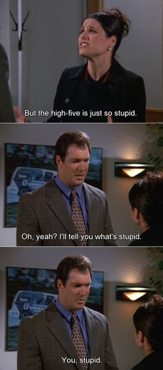 Seinfeld quote - Elaine & David Puddy disagree on stupidity, 'The Dealership'