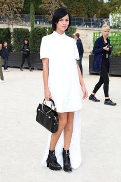 Leigh Lezark attending Viktor and Rolf Womenswear SS14 during Paris Fashion Week in Paris.