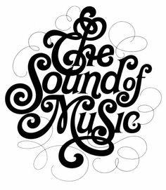 Herb Lubalin, logo - the sound of music #teamfollowback