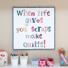 What do you do when life gives you scraps? You make a quilt of course and has the perfect pattern for you! All made from the latest season release of liberty - Thanks to My Liberty, Liberty Print, Just Love, Just For You, Vintage Quilts, Quilting Ideas, Ava, Patches, Scrap