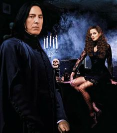 Snape And Hermione, Severus Snape, Hermione Granger, Slytherin, Hogwarts, Gothic Themes, Beautiful Library, Boys Don't Cry, Alan Rickman