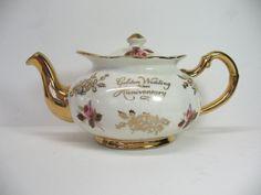 Vintage Teapot 50th Wedding Anniversary Price by MicheleACaron, $39.95