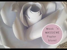 "Maak 'n ""humongous"" papier blom Make It Yourself, Youtube, Blog, Card Stock, Blogging, Youtubers"