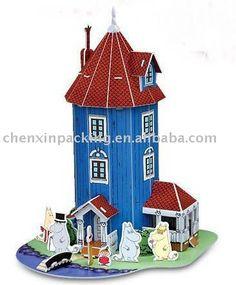 Moomin Mumins Papierpuzzlespiel des Hauses 3D-Puzzle-Produkt ID:275838944-german.alibaba.com