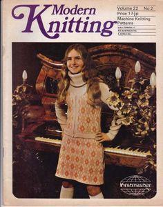 VINTAGE 1970s MODERN KNITTING MACHINE KNITTING PATTERNS MAGAZINE NO 2