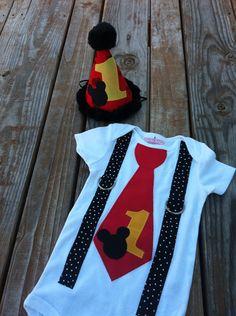 Mickey tie shirt, Mickey Mouse inspired birthday on Etsy, $28.00