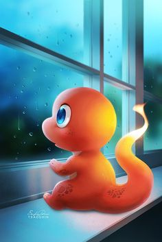 Charmander On A Rainy Day! Pokemon Charmander, Pikachu Art, All Pokemon, Pokemon Fan, Charizard, Pikachu Drawing, Cute Pokemon Wallpaper, Cute Cartoon Wallpapers, Disney Wallpaper