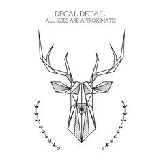 Bedroom Wall Decal: Geometric Deer and Antlers door NaturesRhapsody