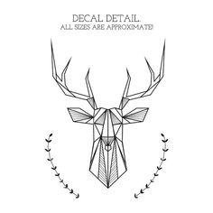 Bedroom Wall Decal: Geometric Deer and Antlers door NaturesRhapsody