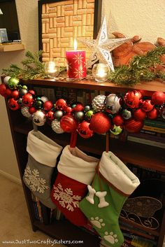 Holiday ornament garland Tutorial by Just Two Crafty Sisters, via Flickr
