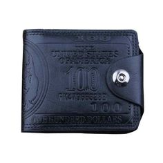 New Fashion Men US Dollar Bill Bifold Pu Leather Card Cash Receipt Holder Wallet Males ID Credit Card Photo Holder Purse Jan5