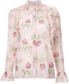 Vilshenko - blouse imprimée - women - Soie/coton - 10