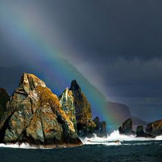 See a rainbow in Cape Horn, Chile.