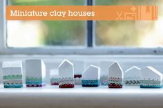 Paper clay miniature houses. An easy project.