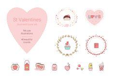 St Valentines cuties by Losha on Creative Market
