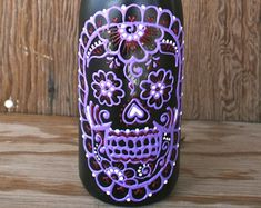 Hand Painted Henna-Style Wine Bottle Vase by JulienCreations