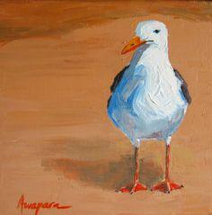 acrylic seagull