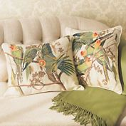Parrot Needlepoint Pillows