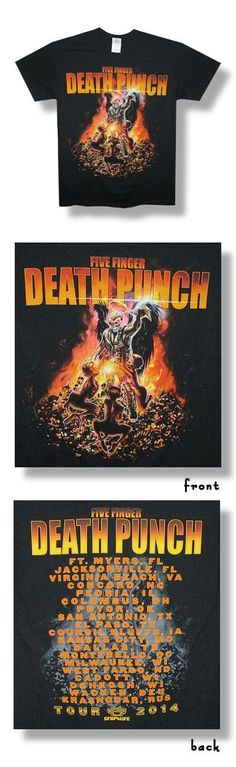 FIVE FINGER DEATH PUNCH (PURGATORY) 2014 TOUR T-SHIRT