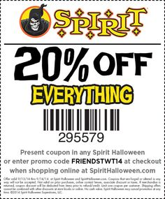 heres a spooktacular coupon for all of spirit halloweens friends and family get off at your local spirit halloween location - Spirit Halloween 50 Off Coupon
