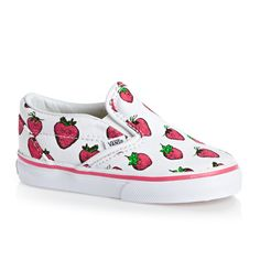 Vans Toddler Girl Classic Slip-on Trainers - Strawberries/True White
