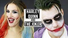 Go to http://halloweencostumestore.net/go for your Halloween costumes HARLEY QUINN   THE JOKER Halloween Makeup Tutorial | Couples Costumes | JamiePaigeBeauty