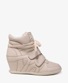 Perforated Wedge Sneakers   FOREVER21 - 2030188042  For Rylie????