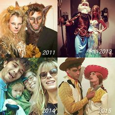 Lachowski family always slay on Halloween and 2015 was the best Their costumes were amazing ❤ Which one is your favorite? #franciscolachowski #chicolachowski #jessianngravel @chico_lachowski @jessiann_gravel