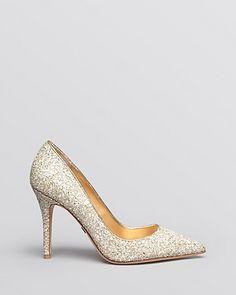 ??? Badgley Mischka Pointed Toe Evening Pumps - Kat High Heel | Bloomingdale's