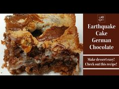 An Earthquake Cake is a German Chocolate Lovers Dream, CVC's Southern Kitchen - YouTube Southern Recipes, My Recipes, Holiday Recipes, Holiday Foods, German Chocolate, How To Make Chocolate, Healthy Banana Muffins, Box Cake Mix, Cake Decorating Techniques