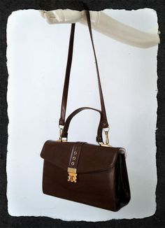 Petit Sac Marron 70's - Carlita Vintage Shop - Boutique en ligne de Mode Vintage, Vêtements ,Accessoires et Brocantes