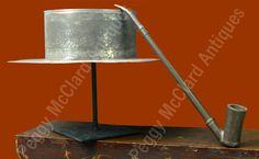 Folk Art - Antique Tin Anniversary Man's Planter Hat, Folk Art to ...