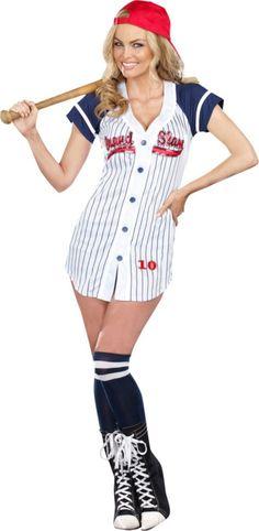 Adult Grand Slam Sexy Baseball Costume - Party City