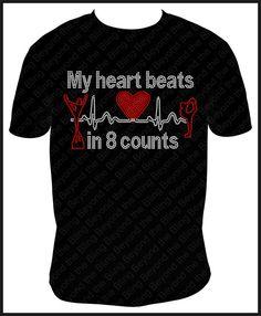 Cheer shirt cheerleader shirt My heart beats by BeyondtheBlingUSA, $25.00